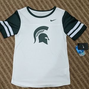 Nike New Michigan State Spartans Mesh T Shirt S